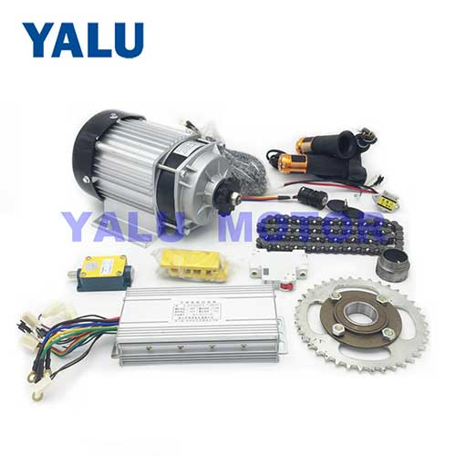 Rickshaw Brushless DC Motor Kit with 48V 750W BM1418ZXF BLDC Motor