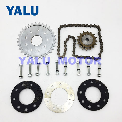 Bicycle Spoke Chain Rear Wheel 32T Sprocket for Left Drive Motor Kit