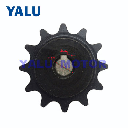 Card slot 12T single speed flywheel for middle drive motor bicycle kit