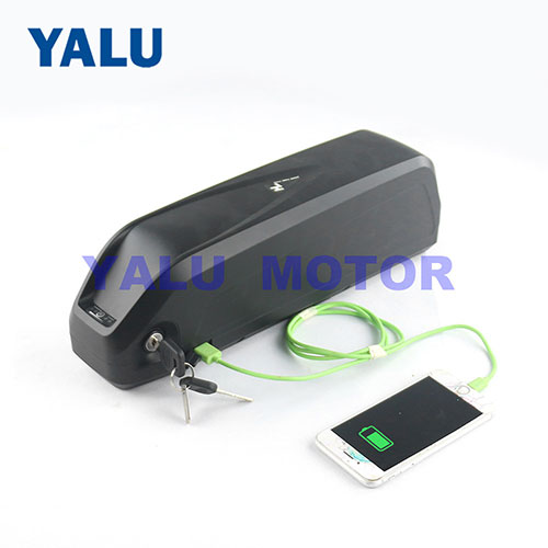 Lithium Battery Pack with Charger and USB port for Ebike motor kit