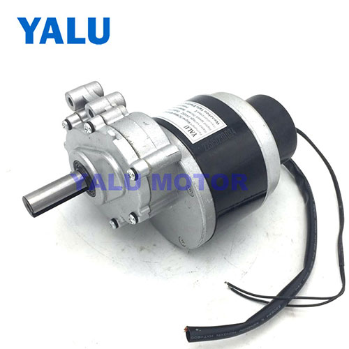 Secondary Geared Brush Wheelchair DC Motor with Electromagnetic brake